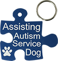 Autism Service Dog Engraved Tag