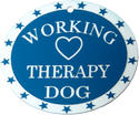 Working Therapy Dog Plastic ID Tag
