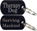 Aluminum Therapy Dog Tag