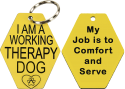 Working Therapy Dog Engraved ID Tag