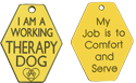 Therapy Dog Engraved Plastic Tag