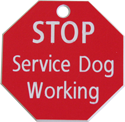 Working Service Dog Engraved Tag