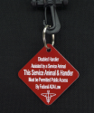 Disabled Handler with Service Dog ID Tag