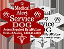Medical Alert Service Dog Engraved Plastic Tag