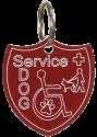 Shield Shape Service Dog Engraved ID Tag