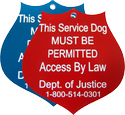 Mobility Service Dog Plastic Engraved ID Tag